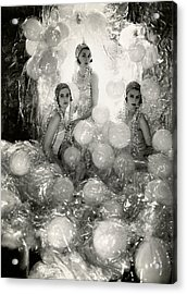 The Debutantes In Costume Acrylic Print by Cecil Beaton