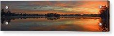 December Sunrise Over Spring Lake Acrylic Print