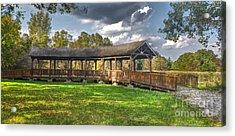 Deck At Pickerington Ponds Acrylic Print