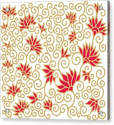 Decorative Floral Composition With Acrylic Print