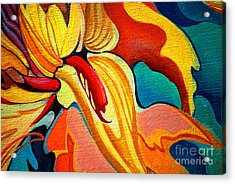Decorative Flower Painting By Oil On Acrylic Print