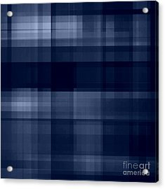 Acrylic Print featuring the digital art Deep Blue Plaid by Rachel Hannah