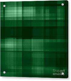 Acrylic Print featuring the digital art Deep Green Plaid by Rachel Hannah