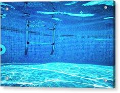 Deep Of Swimming Pool Acrylic Print by Cinoby