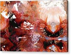 Deep Red Abstract Art - New Awakening - Sharon Cummings Acrylic Print
