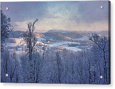 Deer Valley Winter View Acrylic Print