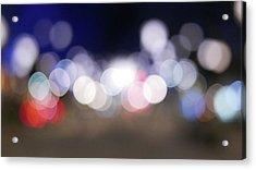 Defocused Lights At Night Acrylic Print by Jasmin Awad / Eyeem