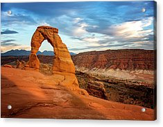 Acrylic Print featuring the photograph Delicate Arch Glow by Ryan Wyckoff