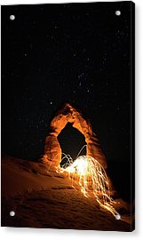 Acrylic Print featuring the photograph Delicate Arch Steel Wool by Nathan Bush