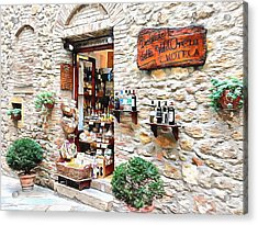 Acrylic Print featuring the photograph Delicatessen Pienza Tuscany by Dorothy Berry-Lound