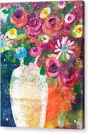 Delightful Bouquet 2- Art By Linda Woods Acrylic Print