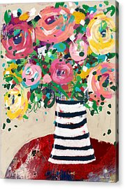 Acrylic Print featuring the mixed media Delightful Bouquet 5- Art By Linda Woods by Linda Woods