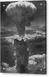 Dense Column Of Smoke Capped By Mushroom Acrylic Print by Time Life Pictures