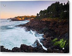 Acrylic Print featuring the photograph Depoe Bay Sunrise by Whitney Goodey