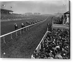 Derby Day Winner Acrylic Print by Central Press