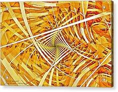 Descent Into Yello Acrylic Print