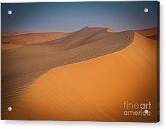 Desert Landscape In Dubai Acrylic Print