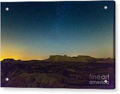 Desert Landscape Of Navarra In Night Acrylic Print