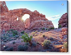 Acrylic Print featuring the photograph Desert Sunset Arches National Park by Nathan Bush