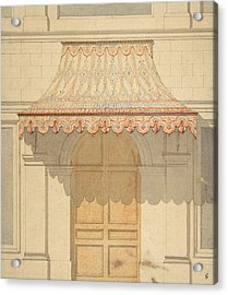 Design For An Awning Over A Door, In Moorish Style. Acrylic Print