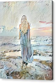 Desolate Or Contemplative Acrylic Print