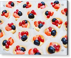 Dessert For Holiday. Fruit Tart With Acrylic Print