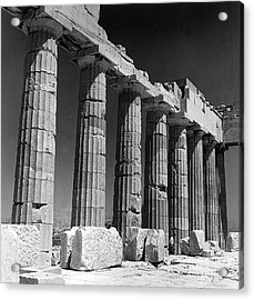Detail Of The Colonnade Of The Parthenon, Acropolis, Athens Acrylic Print