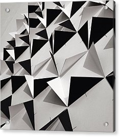 Detail Shot Of Wall With Black Folded Acrylic Print by David Crunelle / Eyeem