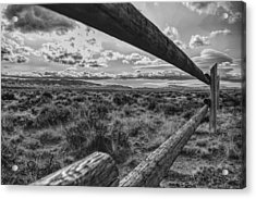 Acrylic Print featuring the photograph Devil's Gate Fence by Chance Kafka