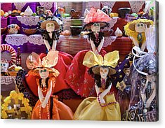 Acrylic Print featuring the photograph Dia De Los Muertos Candy Catrinas by Tatiana Travelways