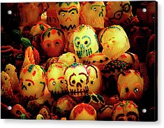 Acrylic Print featuring the photograph Dia De Los Muertos Candy Skulls by Tatiana Travelways