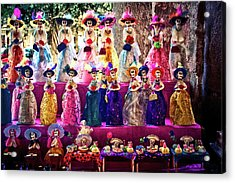 Acrylic Print featuring the photograph Dia De Los Muertos Spooky Candy Catrinas by Tatiana Travelways