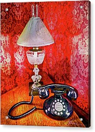 Acrylic Print featuring the painting Dial Up Telephone by Joan Reese