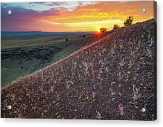 Diamond Craters Sunset Acrylic Print by Leland D Howard