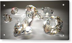 Diamonds Acrylic Print by Mevans