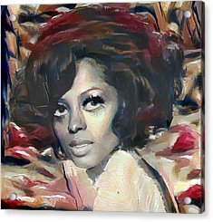 Diana Ross Acrylic Print