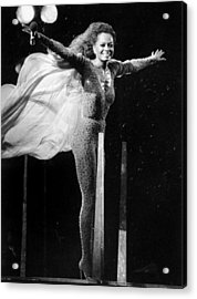 Diana Ross Seems Ready To Take Off At Acrylic Print by New York Daily News Archive