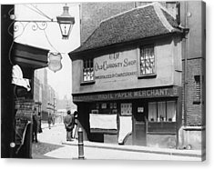 Dickens Shop Acrylic Print by F. J. Mortimer