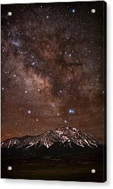 Diffused Milk Over The Spanish Peaks Acrylic Print by Mike Berenson / Colorado Captures