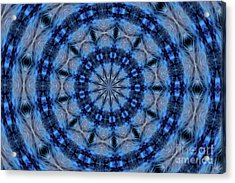 Acrylic Print featuring the photograph Blue Jay Mandala by Debbie Stahre