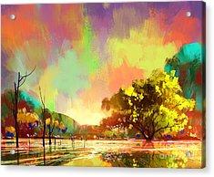 Digital Painting Of A Beautiful Acrylic Print