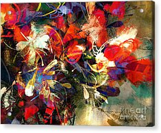 Digital Painting Of Abstract Bright Acrylic Print