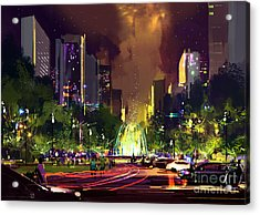 Digital Painting Of Bright Color Acrylic Print