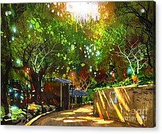 Digital Painting Showing Beautiful Acrylic Print
