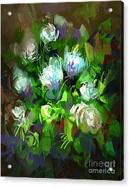 Digital Painting Showing Bunch Of White Acrylic Print