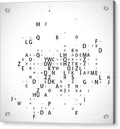 Digital Program Code, Vector Acrylic Print