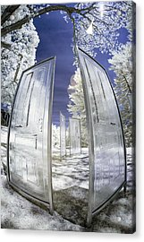 Acrylic Print featuring the photograph Dimensional Doors by Brian Hale