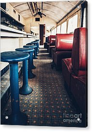 Acrylic Print featuring the photograph Diner Version 1 by Terry Rowe