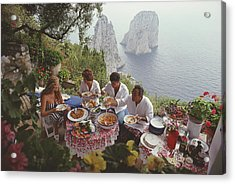Dining Al Fresco On Capri Acrylic Print