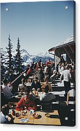 Dining In Gstaad Acrylic Print